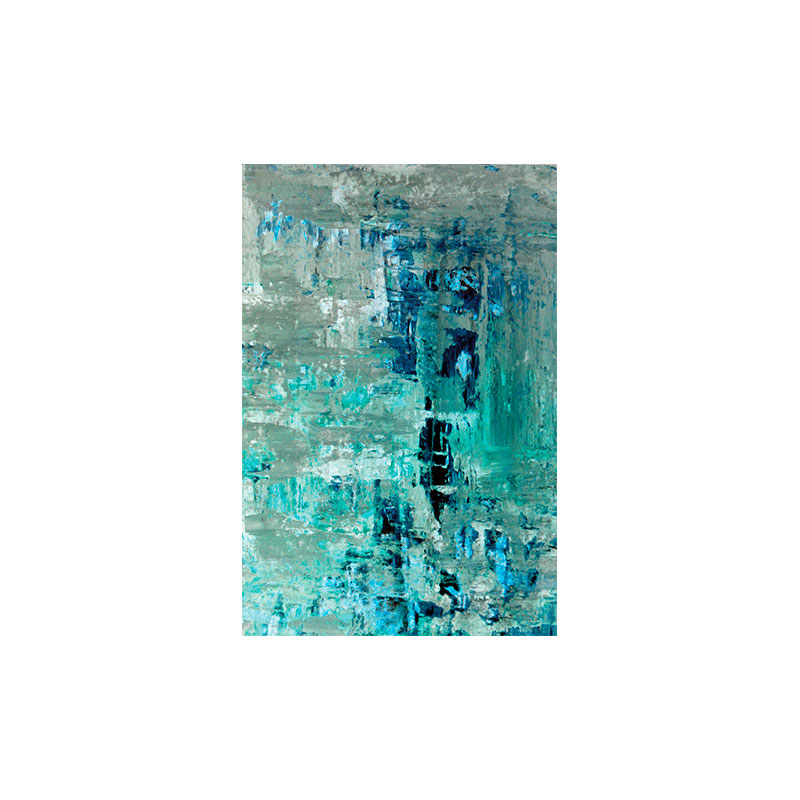 80-x-120-DIB221-AluArt-MondiArt-Turquoise-+-Beige-Abstract-Art