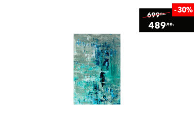 80-x-120-DIB221-AluArt-MondiArt-Turquoise-Beige-Abstract-Art
